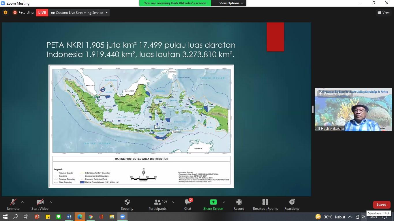 """Seminar Online: Perlindungan Biodiversitas Laut """"Linking Knowledge to Action"""""""