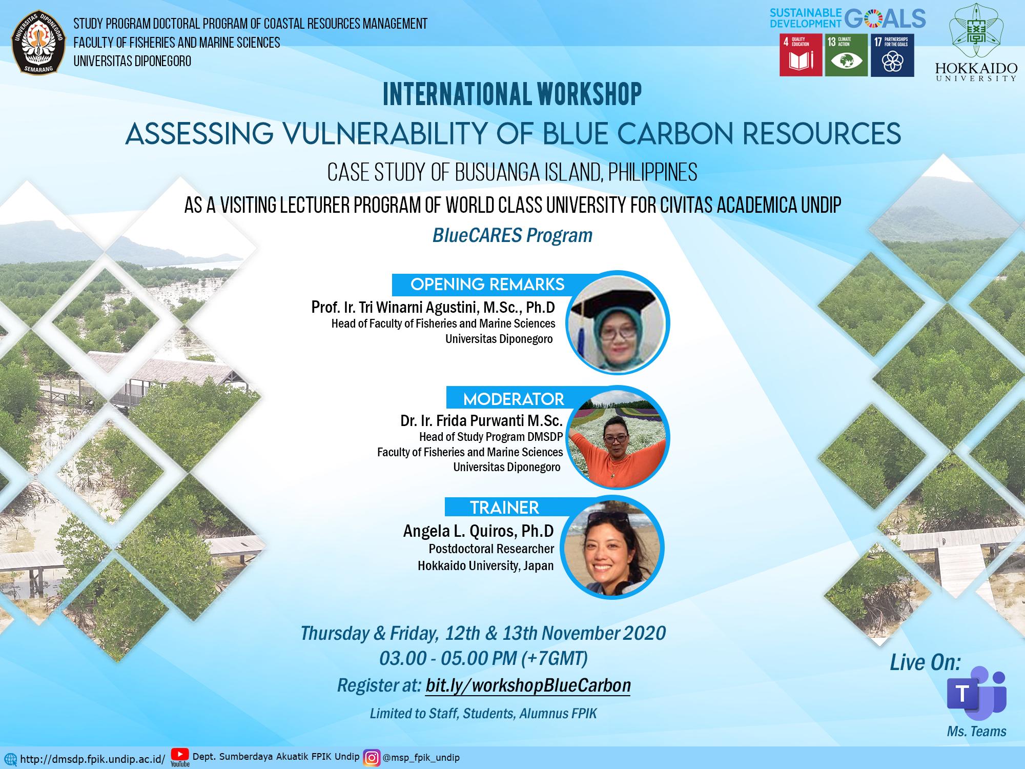 International Conference on Tropical and Coastal Region Eco-Development 2020