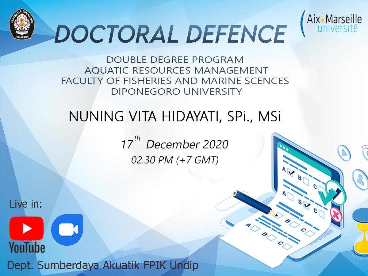Ujian Terbuka Nuning Vita Hidayati, SPi., MSi