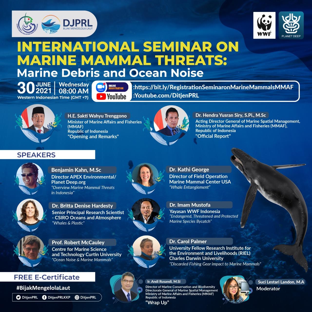 Seminar Internasional tentang Ancaman Terhadap Mamalia Laut: Sampah dan Kebisingan di Laut